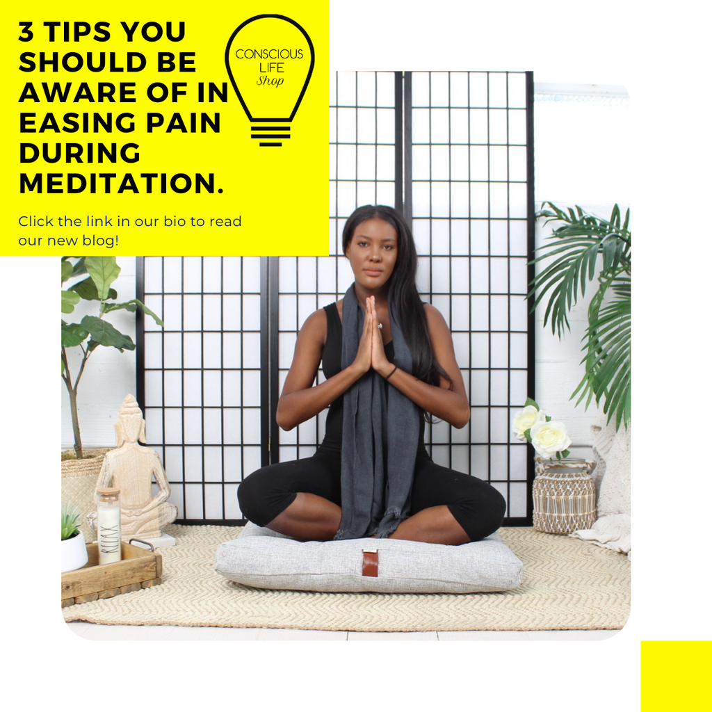 3 Tips you should be aware of in easing pain during meditation.