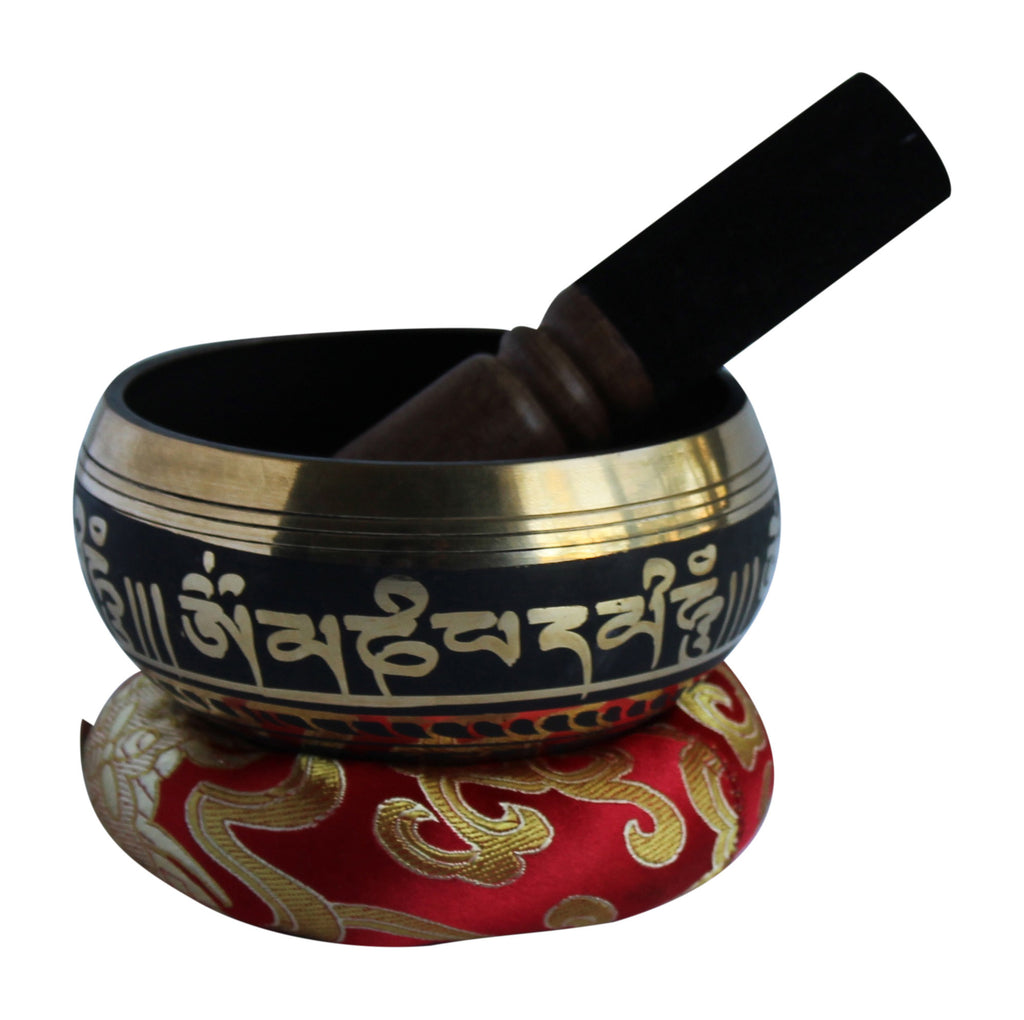 Tibetan Singing Bowl + FREE GIFT Incense Holder and Wristband- Singing Bowl Set