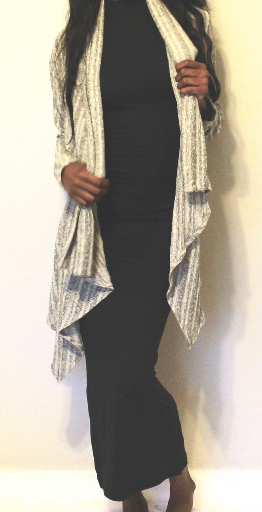 INTEGRATED - Grey Cardigan Sweater