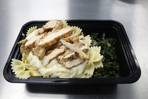 Chicken Bow Tie Pasta & Braised Kale (Lunch)