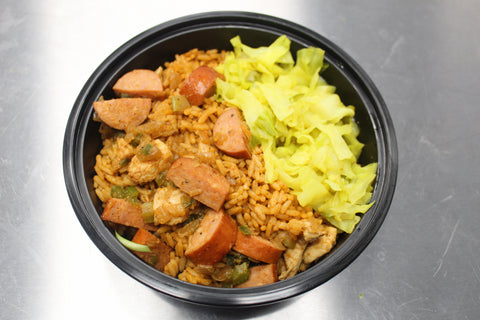Chicken & Sausage Jambalaya & Braised Cabbage