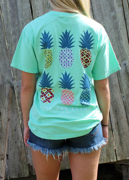 pineapple t-shirt - live oak brand