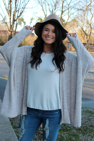 boho floppy hat - tan