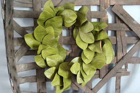 Magnolia Wreath - light green