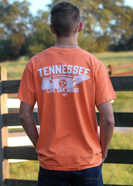 tennessee state outline - live oak brand