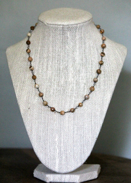 brooke marie: jasper layering necklace