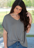 taylor twist front top - olive