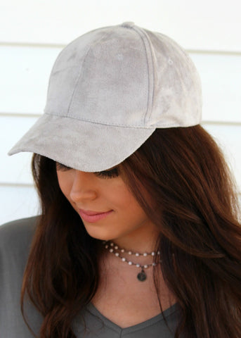 shelby suede hat - gray