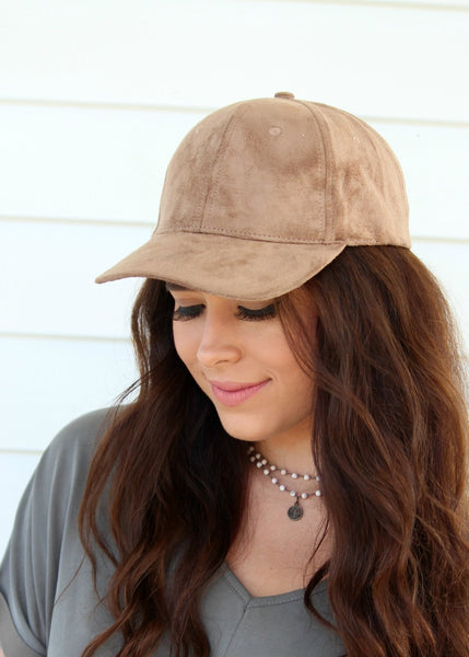 shelby suede hat - tan