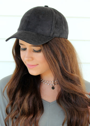 shelby suede hat - black