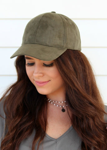 shelby suede hat - olive