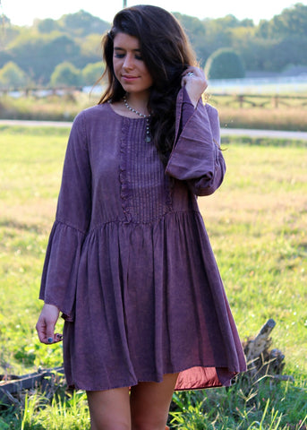 grayson dress - dusty plum