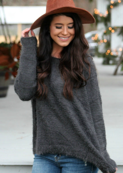soft + toasty sweater - charcoal