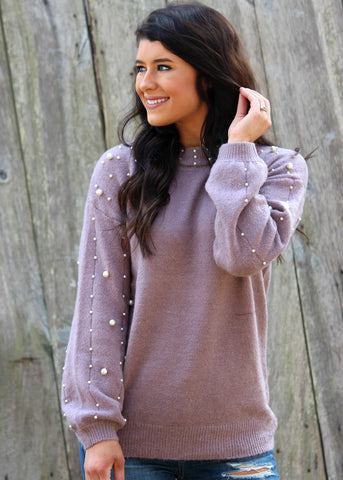 pearl perfect sweater - dusty lavender