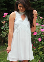 sweet nothing lace dress - off white
