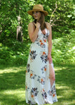 romantic print maxi dress - floral