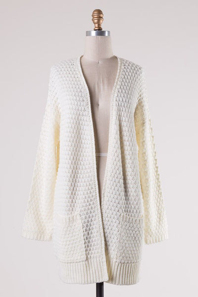 casual afternoon cardigan - ivory