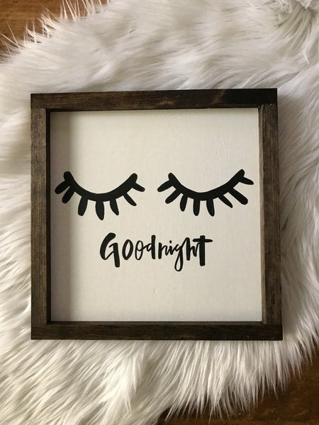 goodnight sign