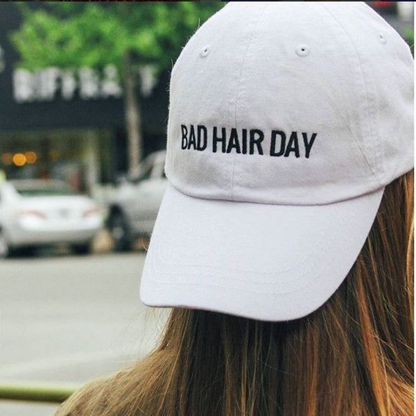 bad hair day hat - white