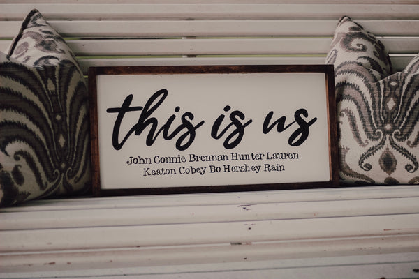 This is us sign - custom