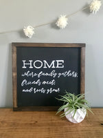 home - where family gathers sign