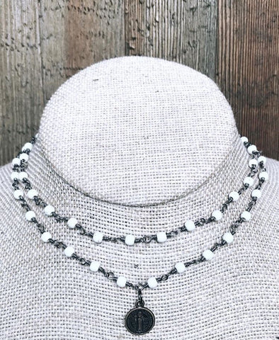 brooke marie coin wrap necklace