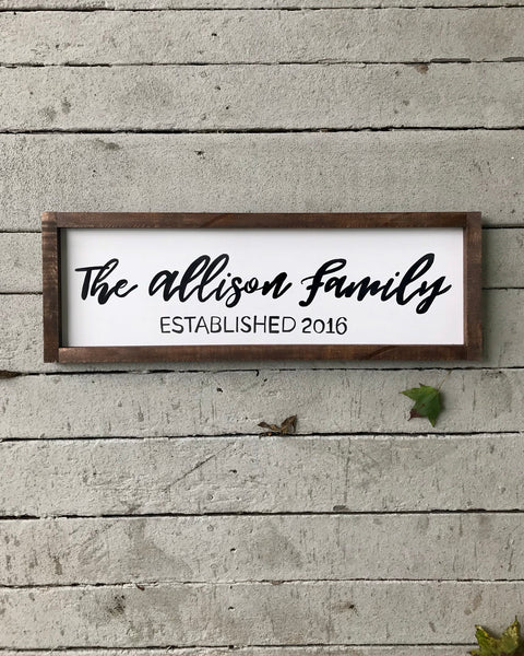 family custom sign