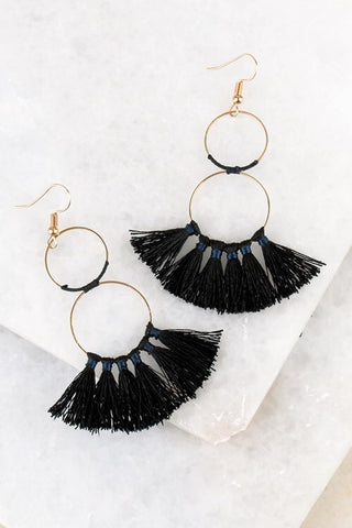 tassel earrings - multi colors