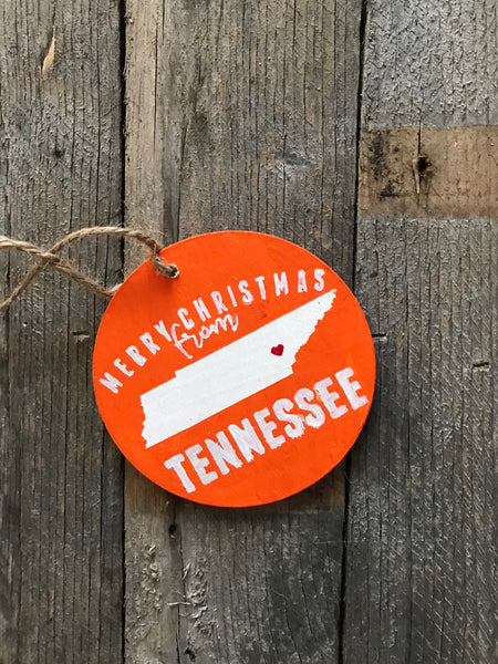 merry Christmas from Tennessee - orange