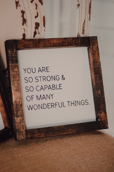you are capable mini sign