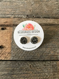 round stud earrings - multi colors