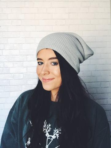 slouchy beanie - multi colors