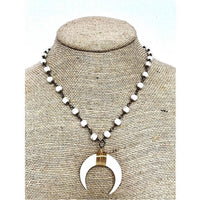 brooke marie white horn necklace