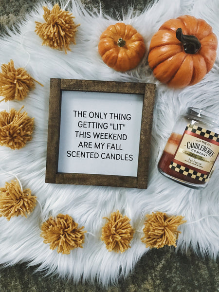 My fall candles mini sign