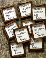 no place like home mini sign