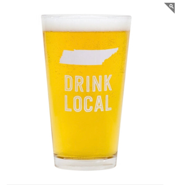 Tennessee beer pint glass
