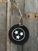 tri-star ornament - black