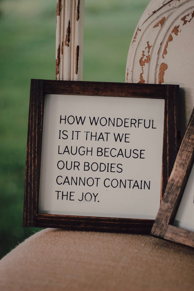 Laughter & Joy mini sign