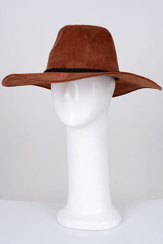 chestnut wide brim hat