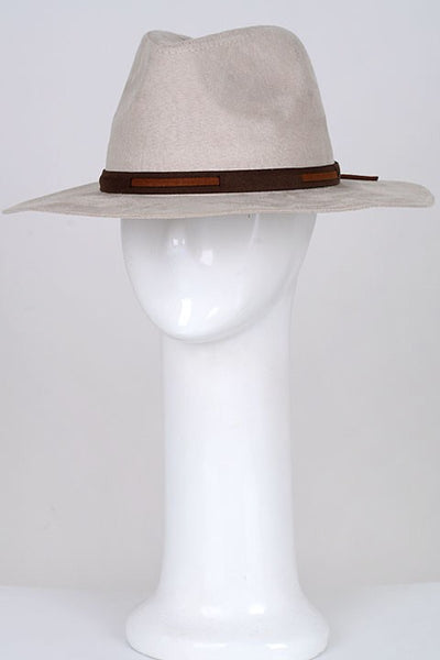 ivory wide brim hat
