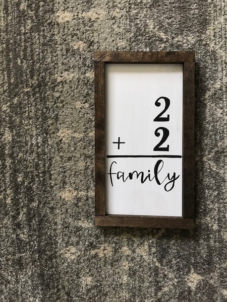 family addition sign