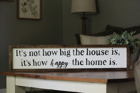 how happy the home is sign
