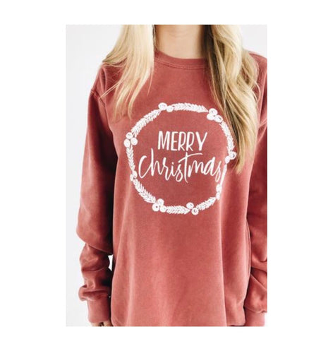 merry Christmas sweatshirt - red