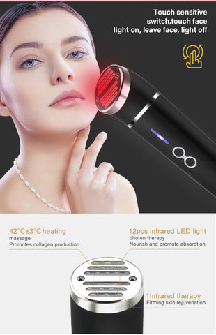 Red light Therapy Device for Wrinkles - Anti Aging for Face and Neck Lifts and Tightens Skin Reduces Wrinkles