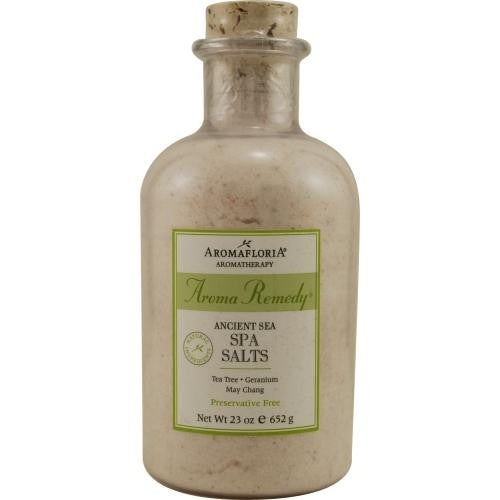 Aroma Remedy Ancient Sea Spa Salts 23 Oz Blend Of Tea Tree, Geranium, And May Chang (preservative Free) By Aromafloria
