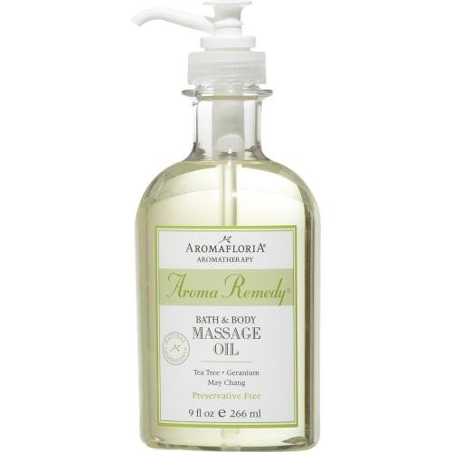 Aroma Remedy Bath & Body Massage Oil 9 Oz Blend Of Tea Tree, Geranium, And May Chang (preservative Free) By Aromafloria freeshipping - 123fragrance.net
