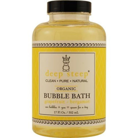 Deep Steep Grapefruit-bergamot Organic Bubble Bath 17 Oz By Deep Steep