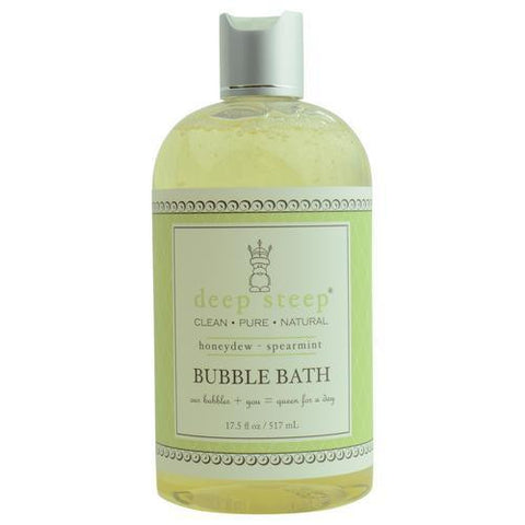 Deep Steep Honeydew-spearmint Organic Honey Bubble Bath 17.5 Oz By Deep Steep