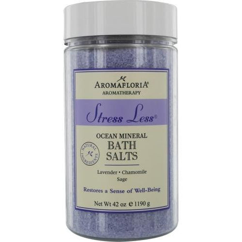 Stress Less Ocean Mineral Bath Salts 42 Oz Blend Of Lavender, Chamomile, And Sage By Aromafloria freeshipping - 123fragrance.net
