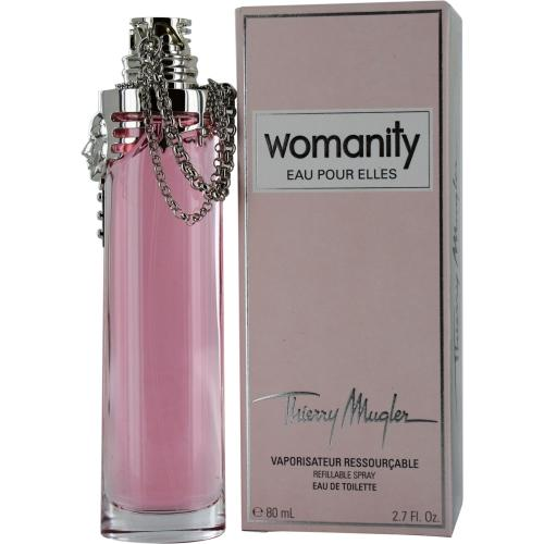 Thierry Mugler Womanity Eau Pour Elles By Thierry Mugler Edt Refillable Spray 2.7 Oz
